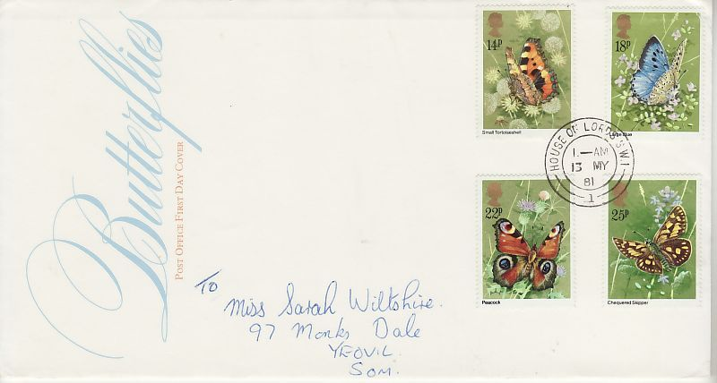 Butterflies First Day Cover