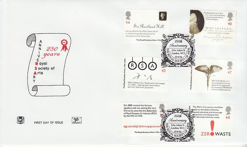 Royal Society of Arts First Day Cover