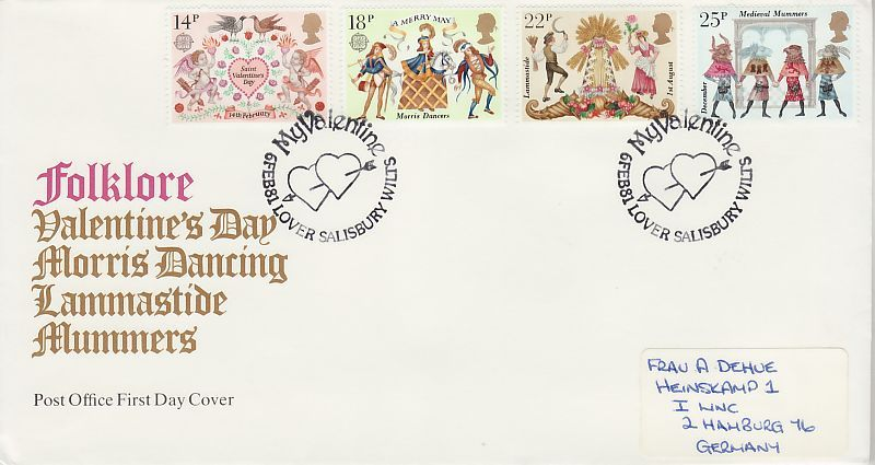 Folklore First Day Cover