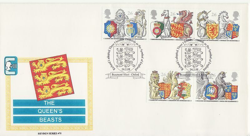 The Queen's Beasts First Day Cover