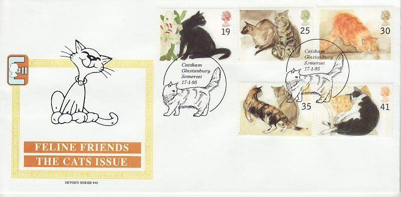 Cats First Day Cover