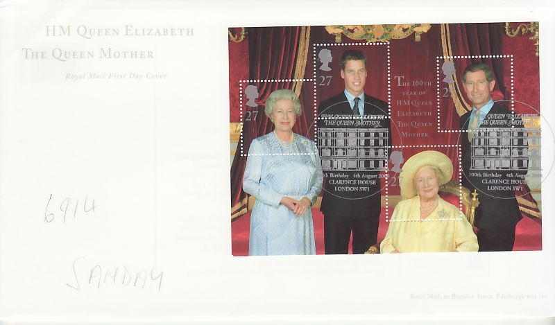 Queen Mother First Day Cover