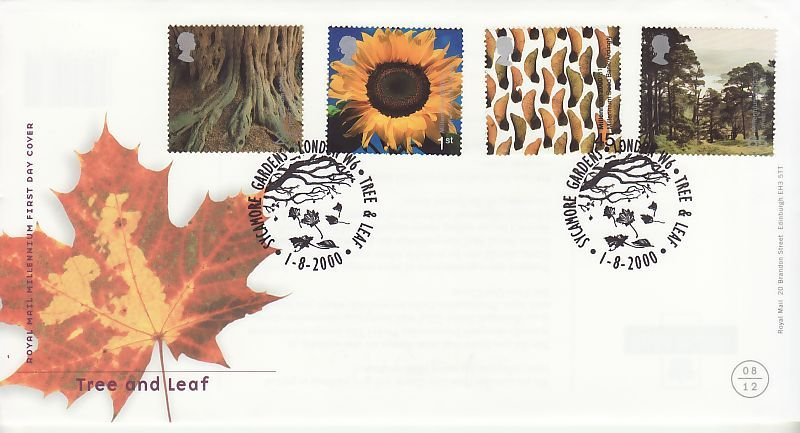 Tree and Leaf First Day Cover