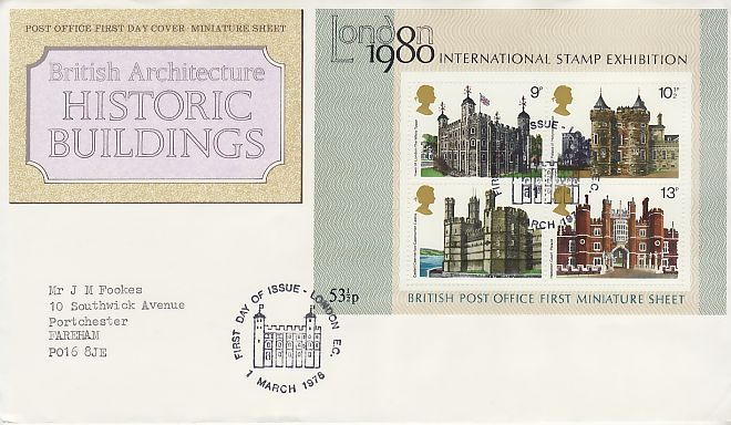 Historic Buildings First Day Cover
