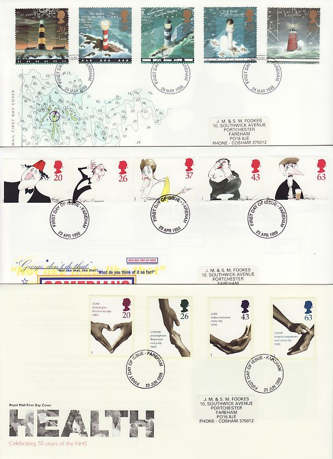 1998 First Day Covers