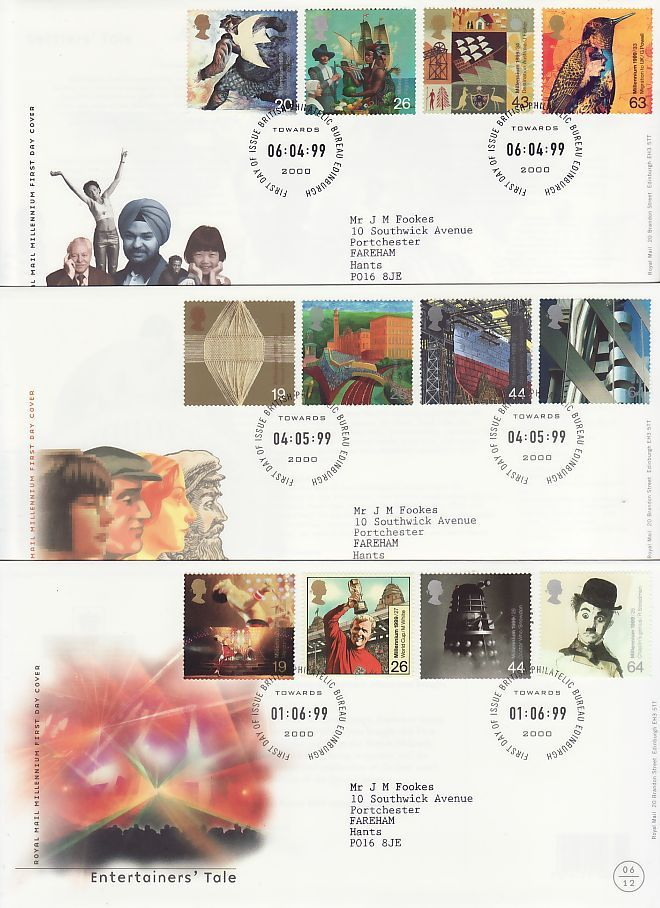 1999 First Day Covers