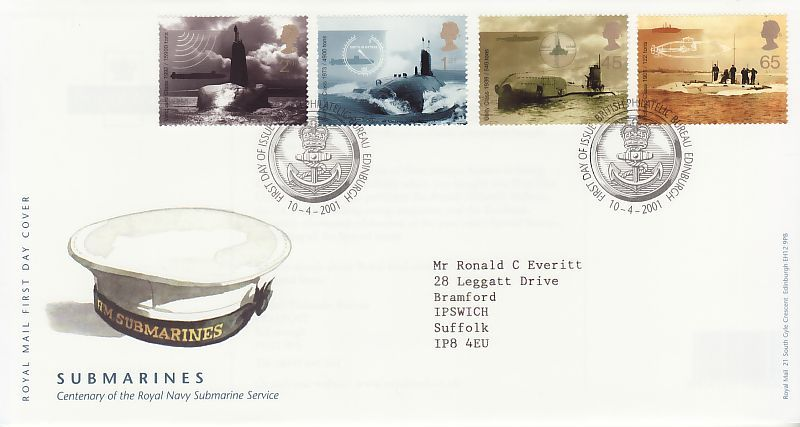 Submarines First Day Cover