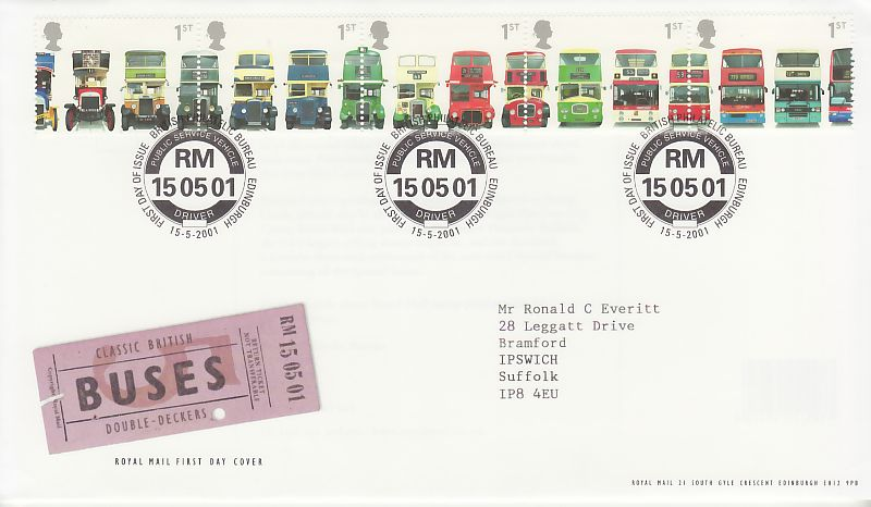 Buses First Day Cover
