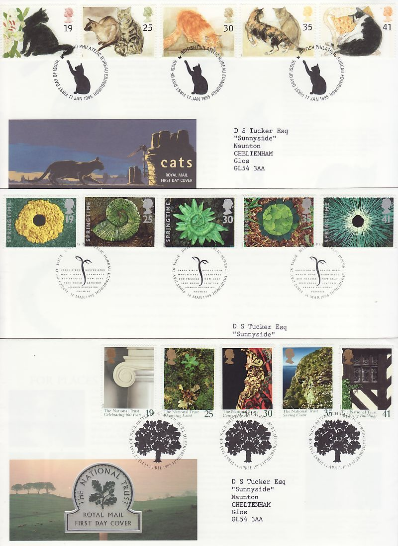 1995 First Day Covers