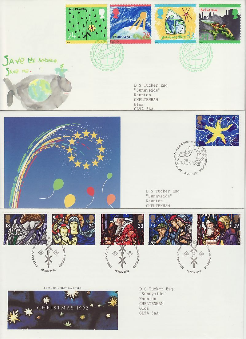 1992 First Day Covers