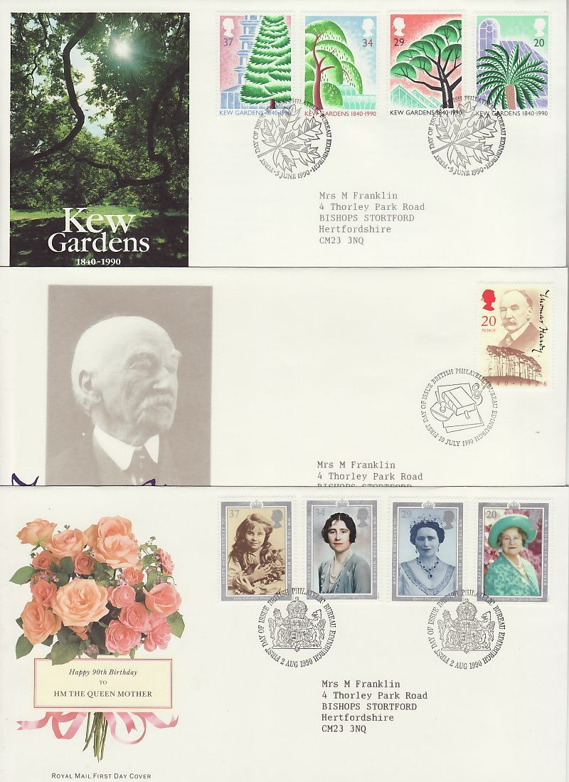1990 First Day Covers